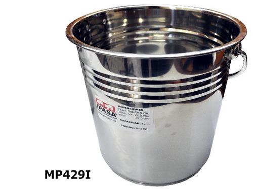 cubeta de 15 litros en acero inoxidable, envío incluido.