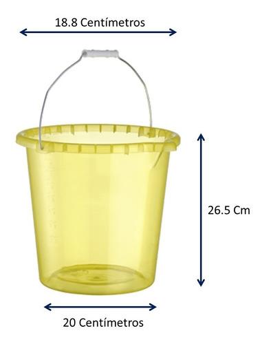cubeta de plástico con pico 3 piezas capacidad 10.5 litros