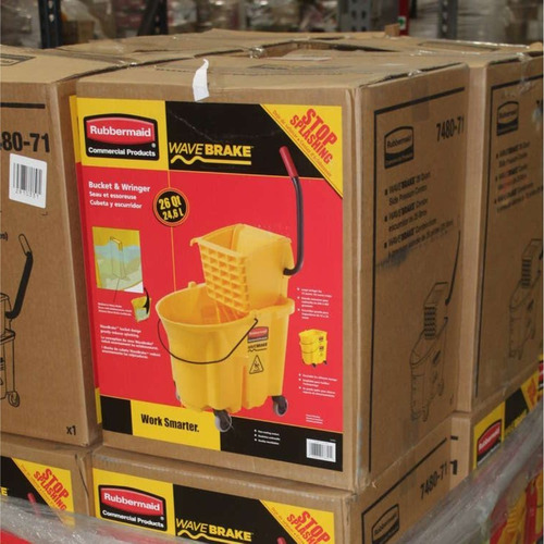 cubeta exprimidora wavebrake rubbermaid 24 litros fg748018