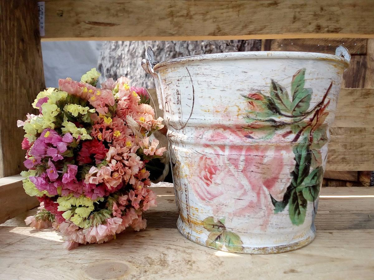 Cubetas decorativas macetas centros de mesa vintage - Comprar decoracion vintage ...