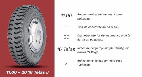 cubierta 1100x20 neumatico firestone t615 16 telas taco