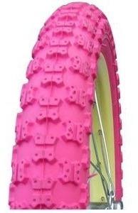cubierta bicicleta dsh 20 x 2.125 cross rosa - racer bikes