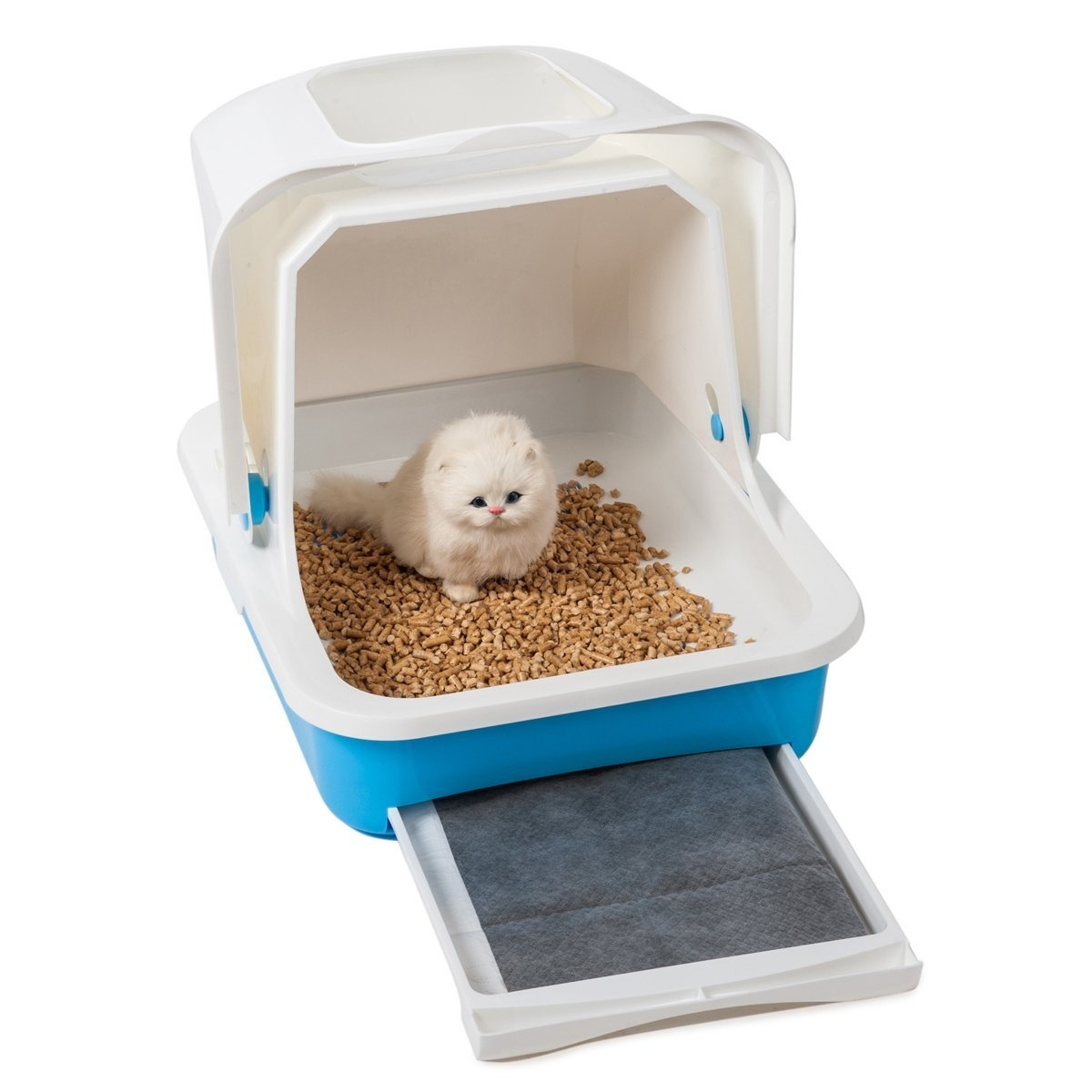 Cubierta Caja De Arena Para Gato Azul - $ 302.800 en Mercado Libre
