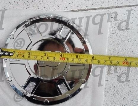 cubierta cromada tapa de combustible redonda universal 15 cm