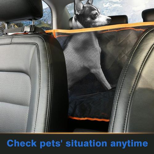 cubierta de asiento con ventana de malla para perros