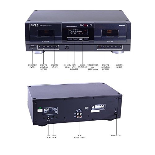 cubierta de cinta de casete estéreo doble - sistema de