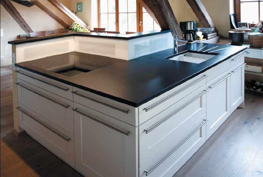 cubierta de cocina fabricadas en resinas sinteticas