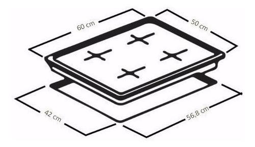 cubierta de empotrar ge 60cm inox cgg6054la-0con