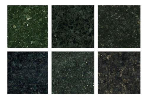 cubierta  de granito verde ubatuba 1900 ml  instalada