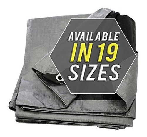cubierta de lona de color plateado y negro material grueso r