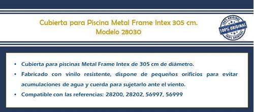 cubierta de piscina metal frame tubular 305 cm 28030