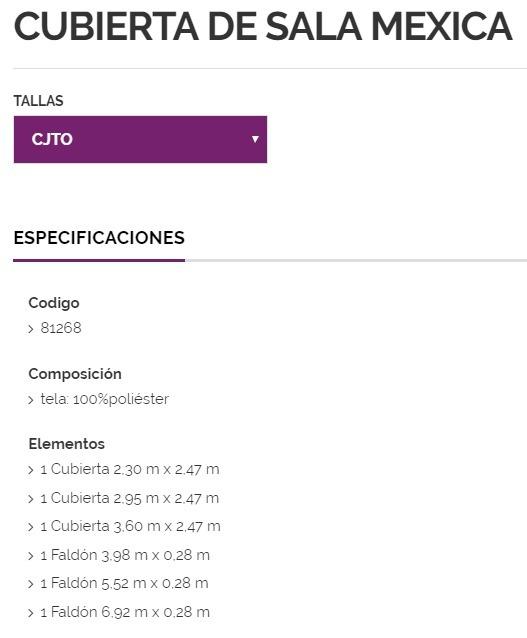 3802cc074 Cubierta De Sillon Mexica Vianney 18-19 81268 Conjunto -   2