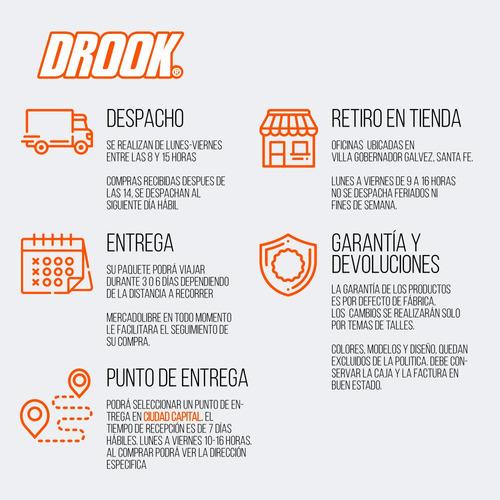 cubierta drook 100/80-17 6 telas fz16/fz25/ybr