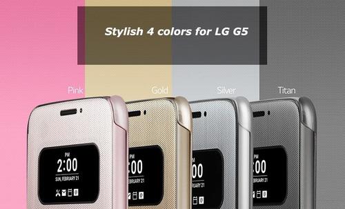 cubierta funda celular lg  g5 quick cover