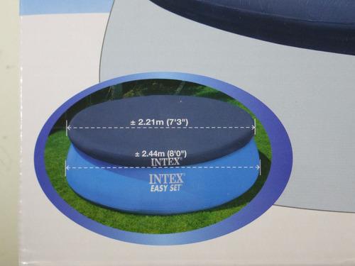 cubierta funda circular de alberca inflable de 2.44 m intex