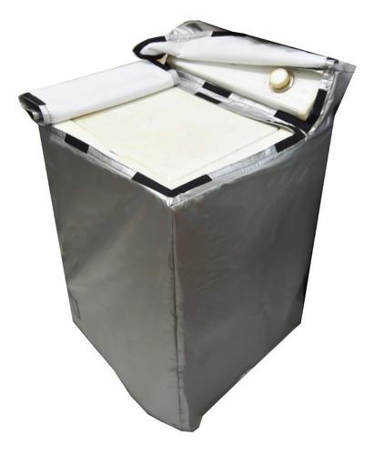 cubierta funda para lavadora con tapa lona afelpada premium