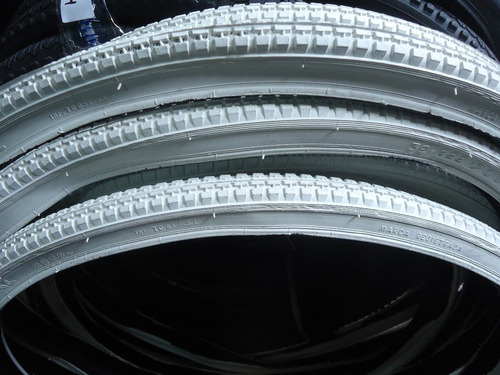 cubierta imperial cord 26 x 1 1/2 blanca - racer bikes