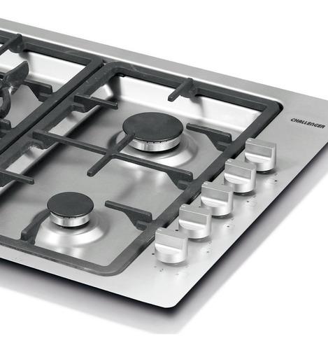 cubierta kitchen gourmet 86cm 5 puestos challenger si6990