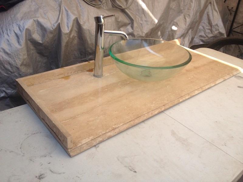 Cubierta marmol vanitorio ba o lavamanos grifo sin mueble for Cubiertas de marmol chile
