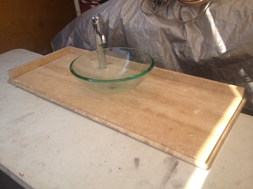 Cubierta marmol vanitorio lavamanos ba o solo marmol for Valor marmol chile