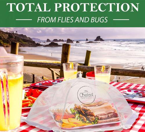 cubierta para alimentos marca chefast (paquete de 5). jue
