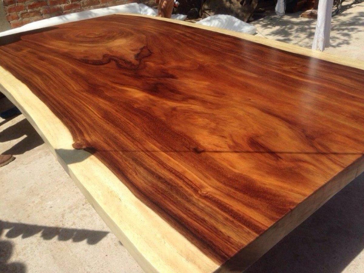 Cubierta para comedor de tronco de madera de parota for Cubiertas para comedor