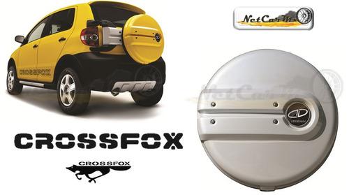 cubierta para llanta crossfox 2006 2009 color plata reflex