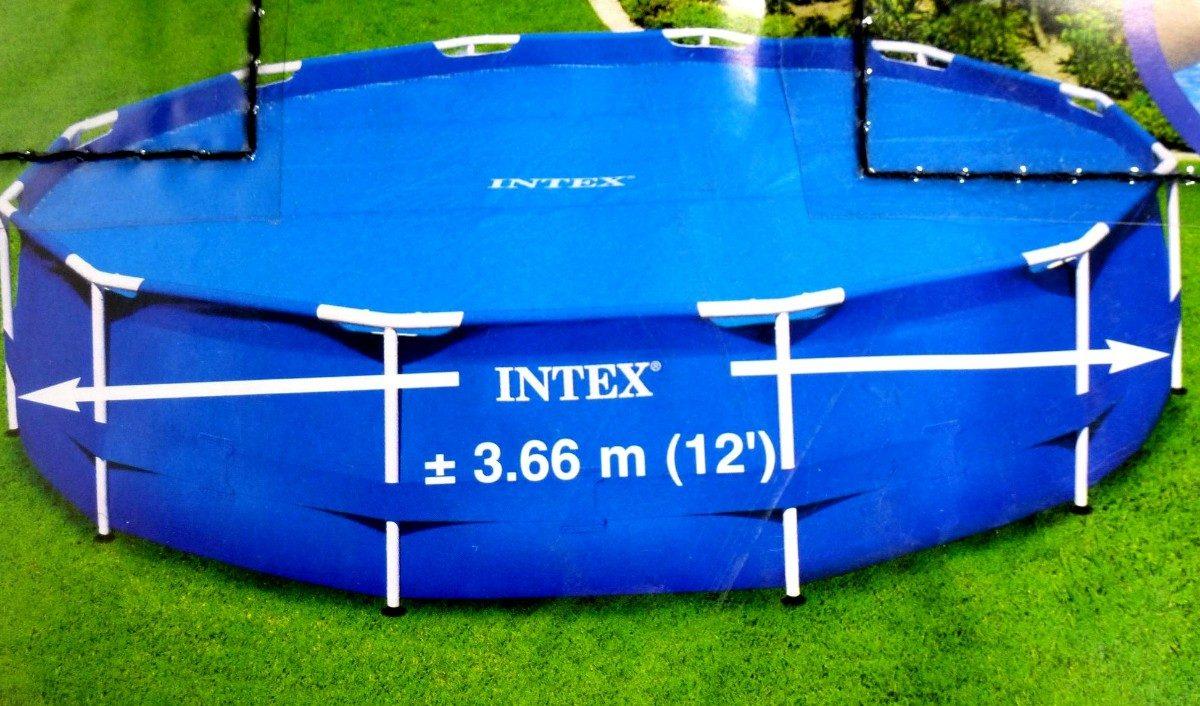 Cubierta solar para alberca circular de m intex for Cubierta para alberca intex