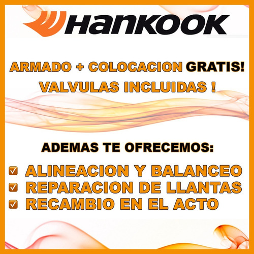 cubiertas 165/70/14 hankook kit x 2 + envio + cuotas