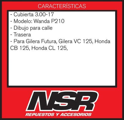 cubiertas 300 17 + ancha 110cc wave futura dl 100 nsr motos