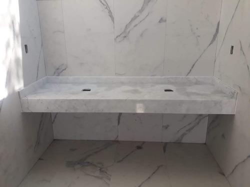 cubiertas de baño en mármol