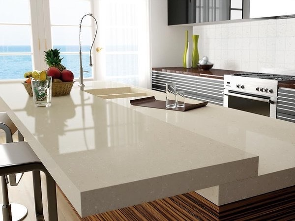 Cubiertas de cocina en granito cuarzo marmol mejor for Marmol de cocina precio