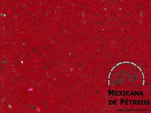 cubiertas de cuarzo rojo estelar para cocinas integrales