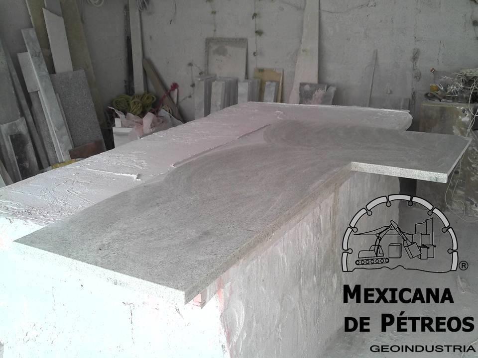 Cubiertas de granito blanco siena para cocinas integrales for Cubiertas de granito
