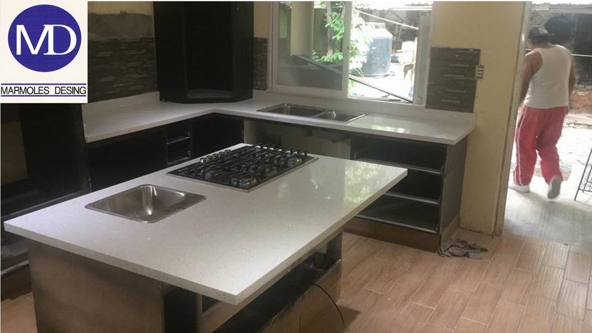 Cubiertas de granito cuarzo y marmol para cocinas - Marmol cocina precio ...