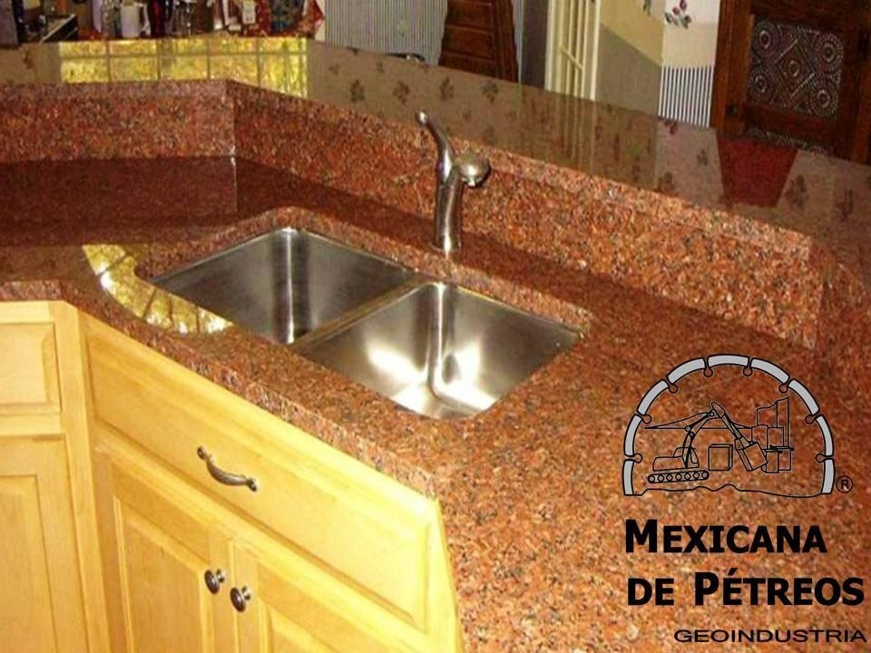 Cubiertas de granito rojo capao para cocinas integrales for Granito natural para cocinas