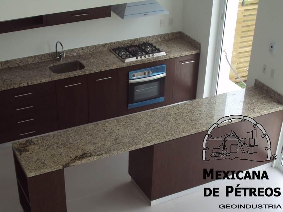 Cubiertas de granito santa cecilia para cocinas integrales for Precio metro cuadrado encimera granito