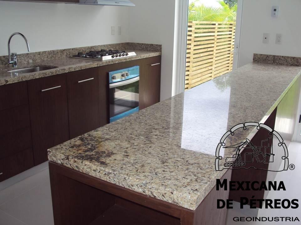 Cubiertas de granito santa cecilia para cocinas integrales - Cocinas con encimera de granito ...