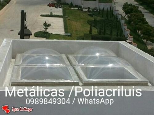 cubiertas de policarbonato , acrilico y domos