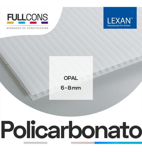cubiertas de policarbonato alveolar