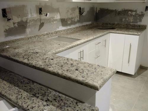 Cubiertas en granito natural para cocina marmol y mas for Encimera cocina marmol o granito