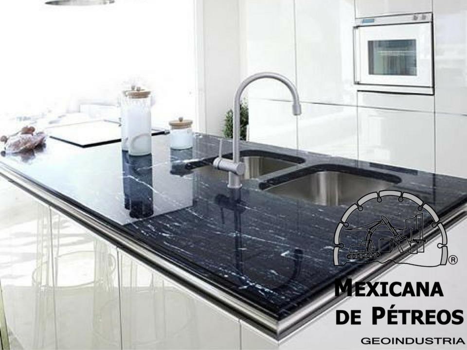 Cubiertas granito negro v a l ctea para cocinas integrales - Encimeras de marmol para cocinas ...