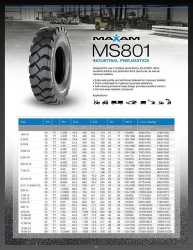 cubiertas industriales maxam 7.00-12 ms801 12pr autoelevador