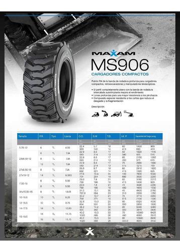 cubiertas maxam 12-16.5 12pr minicargadora - pala