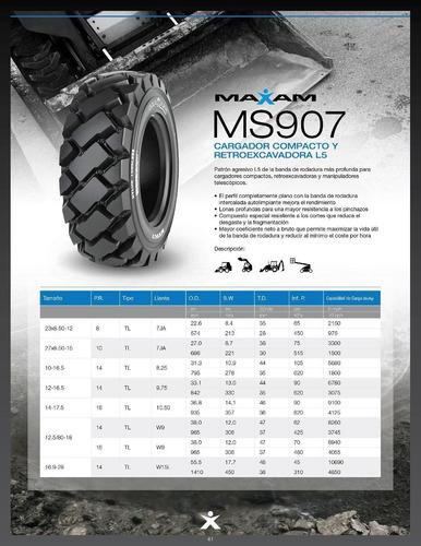 cubiertas maxam 12-16.5 ms907 14pr l5 minicargadora - pala