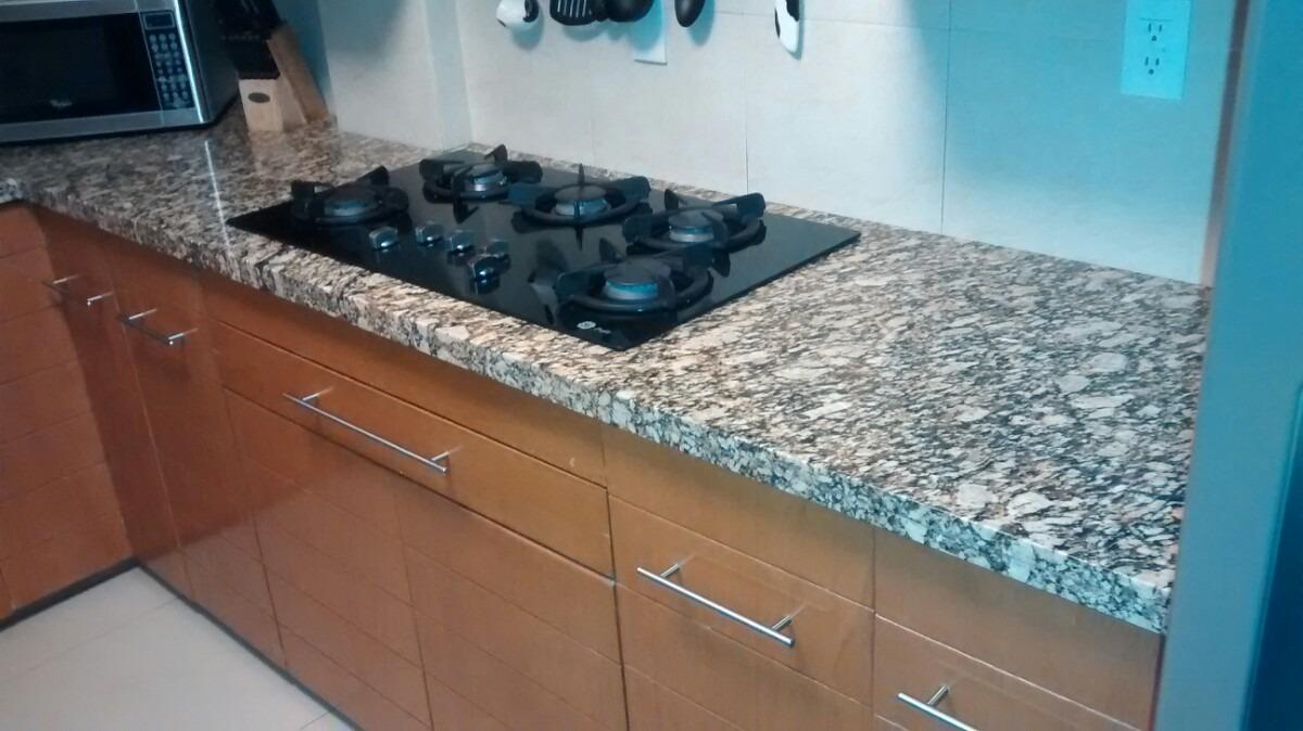 Cubiertas para cocina granito natural marmol cuarzo for Barra de granito para cocina precio