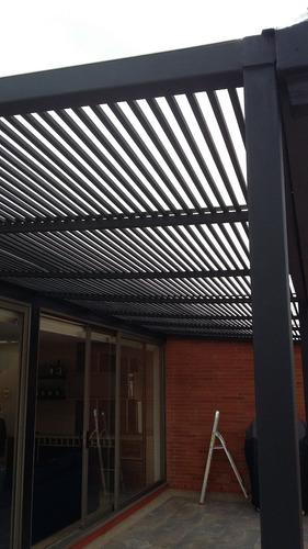 cubiertas, pergolas, estructura metálica, escaleras