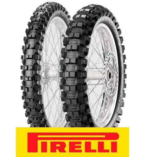 cubiertas pirelli 80 100 21 + 100 90 19 mx extra - cuotas