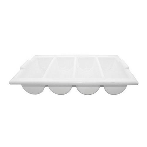 cubiertera blanca plástica 4 divisiones.
