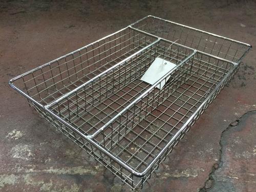 cubiertero metalico. organizador cubiertos.26x36x5